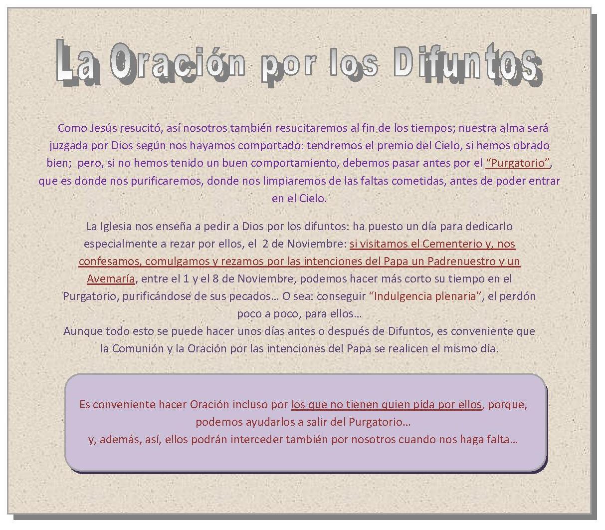 Día de Difuntos | ||||| Parroquia de San Jorge de Mogor