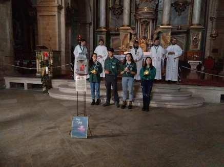 Entrega de Luz de Belén de los Scouts